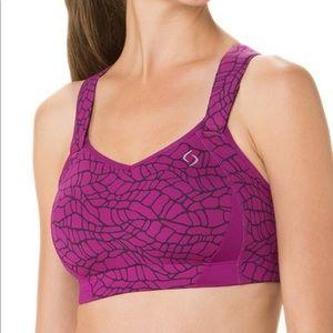 Moving comfort - currant Juno sports bra